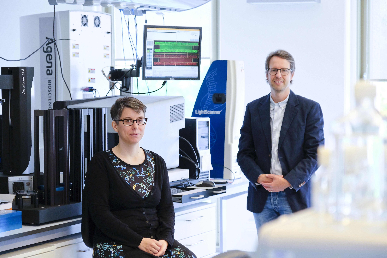 First authors: Dr. Frauke Degenhardt, Prof. Dr. David Ellinghaus, both IKMB © UKSH, photo: Maximilian Hermsen