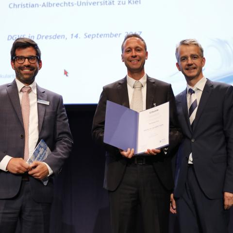 Prof. Andre Franke, Dr. Martin Strünkelnberg und Prof. Frank Lammert