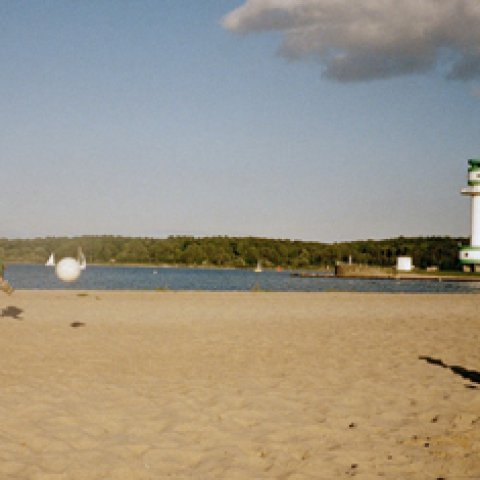 beach and lighthouse in Falckenstein