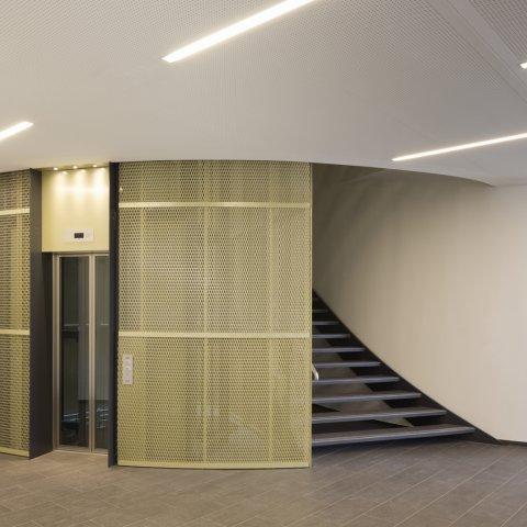ZMB foyer,  HENN architects Munich, photo: H.G. Esch