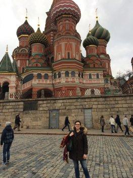 Elisa Rosati in Moscow